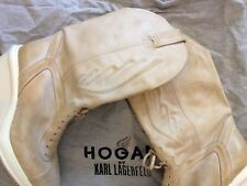 Chanel's Designer Karl Lagerfield HOGAN Boots size EUR 41 Women Shoes Leather