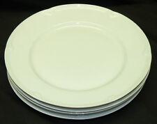 Set of 4 Block Spal Classic White Porcelain Salad Plates Gerald Gulotta Embossed