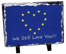 British Brexit, Europe 'We Still Love You' Photo Slate Christmas Gi, BRITISH-4SL