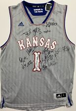 2018 2019 KANSAS JAYHAWKS TEAM SIGNED BASKETBALL JERSEY BILL SELF UDOKA GRIMES