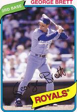 George Brett Kansas City Royals Baseball Cards For Sale Ebay