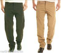 Pantaloni Uomo Jeans A241 OLYO Gamba Dritta Verde o Beige Tg 32 34 38