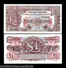 GREAT BRITAIN 1 POUND P M22 1948 BRITISH JIM MPC ARMED FORCES UNC CURRENCY NOTE