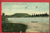 FT WAYNE INDIANA IN RESERVOIR & PARK 1911 POSTCARD