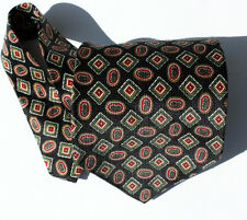 Handmade NEW Black Geometric Men's Neck Tie $55 #547