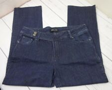 Gasoline Brand Womens Dark Blue Denim Jeans Size 14X32 Excellent Condition  j4