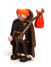 Playmobil Figure Castle Wandering Monk Hooded Cape Slippers Sack 3631 RARE HTF