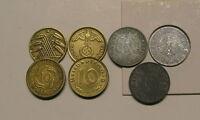 Pièces de monnaie 10Pf Pfennig 1924-1948 jusqu'à 1996 RFA Ursule circule