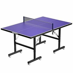 ONETWOFIT 6'x3' Table Tennis Tables Midsize Foldable Ping Pong Table Mini Tab...