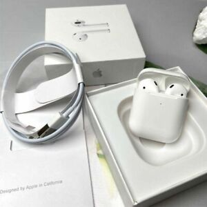 Apple AirPods 2nd Generation w/Wireless Charging Case Bluetooth White Headphones