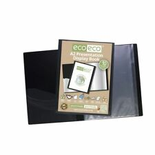 eco-eco A2 50% Recycled 10 Pocket Black Folder Presentation Display Book