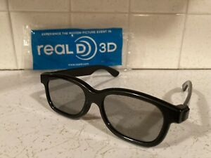 Real D Passive 3D Glasses Casual ABS Black For Home TV Cinema Movie T1D4 IMAX