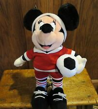 Vtg Mickey Mouse Plush Doll With Soccer Ball Disney World