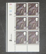 GB - SCOTLAND  2008  81p Tartan definitive Plate block of 6  SG S122 MNH (S*-10)
