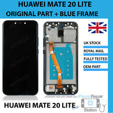 GENUINE HUAWEI MATE 20 LITE SNE-LX1 DISPLAY LCD TOUCH WITH BLUE FRAME HOUSING