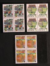 Afrika, Senegal, F. Hundertwasser paintings year 1979 in fine block of four MNH