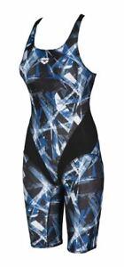 Arena Women's Swimsuit - Night Lights Kneesuit - Black/Blue