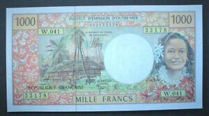 TAHITI ~ 1000 FRANCS 1985 *unc*.