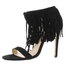 Steve Madden Womens Saamba Suede Tassel Stilettos Heel Sandals  Shoes BHFO 9101