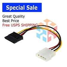 SATA Power Female to Molex Male Adapter Converter Cable, 6-Inch