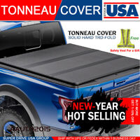 Fits 2005-2015 Toyota Tacoma 6ft Bed Lock Solid Hard Tri-fold Tonneau Cover Bed