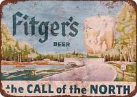 "Fitger's Beer Rustic Retro Metal Sign 8"" x 12"""