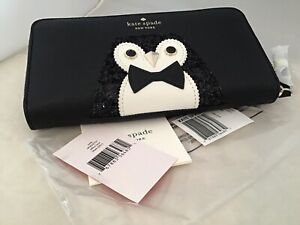 Kate Spade Clifton Lane Neda Penguin Wallet NWT