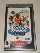 Virtua Tennis World Tour Platinum (Sony PSP 2006). Boxed with Manual.