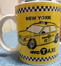 NEW YORK CITY YELLOW TAXI 11 OUNCE COFFEE MUG LICENSED CERAMIC CAB