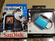 SanDisk Clip Sport MP3 Player 8 GB AND BlueSense Trm Transmitter - NEW BUNDLE