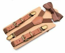 Casual Suspenders Y-Shaped Straps Leather Bow Tie Suits For Children Pants YK608