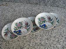 5 COUPELLES Porcelaine Japonaise Décor OISEAU et FLEURS  9 cm