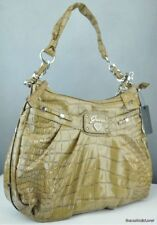 NWT Handbag GUESS Retro Croc Ladies Camel New Authentic USA