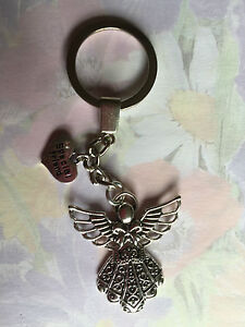GUARDIAN ANGEL WITH SPECIAL FRIEND CHARM  KEY RING BAG HEART  GIFT PRESENT