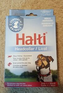 "Halti Stop Pulling Head Collar Black Size 0 11.5""-14"" Neck Size Training Control"