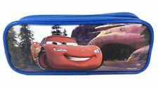 Disney Cars Royal Blue Pencil Pouch Zippered Pencil Case Authentic Bag