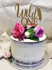 Wild One first birthday cake topper, many colours available