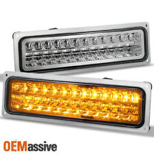 Fit 1988-98 Chevy GMC C10 C/K Sierra Silverado Suburban Tahoe LED Bumper Lights