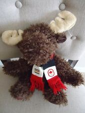 Sochi Olympic 2014 Canada HBC Hudson's Bay Brown Plush Moose Scarf