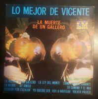 "Jorge Vazquez ""Lo Mejor de Vicente / La Muerte de un Gallero"" Vinyl Record LP"