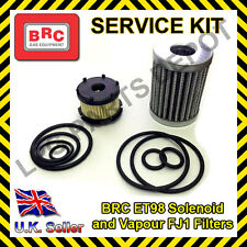 LPG BRC FJ1 HE Vapour POLYESTER and LIQUID Filter ET98 Element Service KIT rings