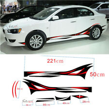 DIY Red & Black Wasserdichte Auto SUV Side Body Flame Vinyl Dekoration Aufkleber
