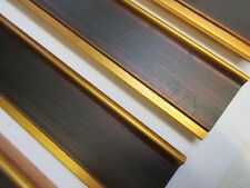 3.8m (4 x 95cm) Wide Wooden Brown & Gold Picture Frame Moulding 65mm wide LJ1