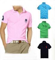 2017 New Fashin Men Slim Sports Short Sleeve Casual Polo Shirt T-shirts Tops