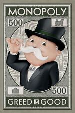 MONOPOLY MONEY GREED IS GOOD POSTER (91x61cm)  PICTURE PRINT NEW ART