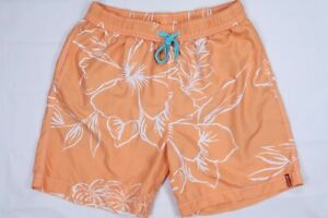 TOMMY BAHAMA SHAKEN AND STIRRED 6-inch ELASTIC MENS MEDIUM 32 34 TRUNKS ORANGE