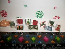 1:12 Scale New Set of 10 Dollhouse Miniature Handcrafted Christmas Card Set 1