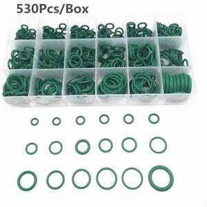 530Pcs R134a A/C O-ring Seals Kit Car Air Conditioning Repair Rubber Sealant Box