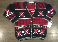Belle Pointe Golf Cardigan Sweater Women's Medium Ugly Sweater