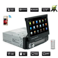 Android 9.1 Single 1Din Car Stereo Radio MP5 Player Adjustable Touch Screen GPS